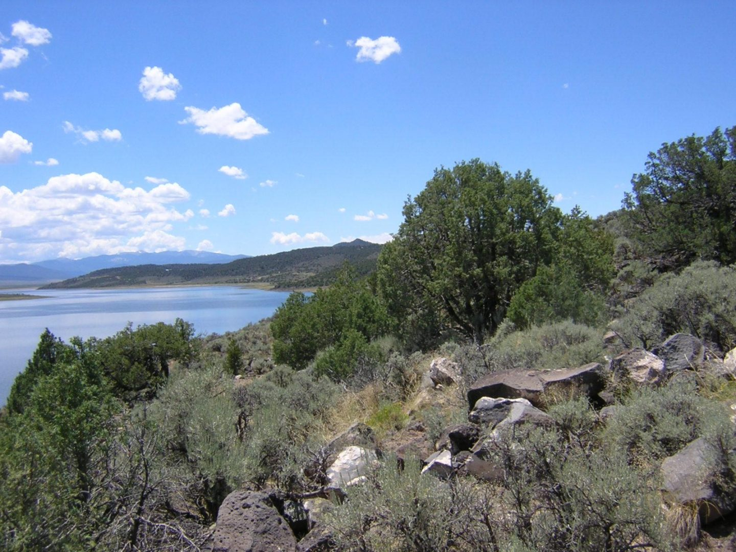 Wild Horse Mesa, Lake Sanchez, southern view toward New Mexico